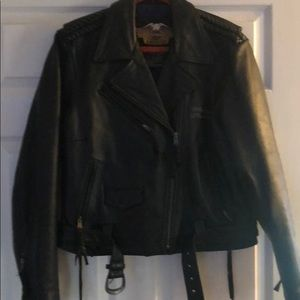 Harley Davidson woman's leather riding jacket